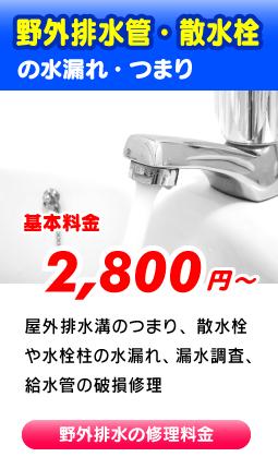 大阪市平野区の屋外排水管・散水栓つまり