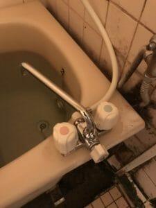 浴室の蛇口交換画像